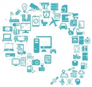 איור 1. האינטרנט של כל דבר חודר בכמעט כל סוג של יישום, ומוביל אל עתיד בעל טריליונים של חיישנים, כאשר כולם אוספים, חולקים ומנתחים נתונים